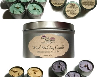Wooden Wick Soy Candles - FREE Domestic Shipping