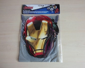 8 Marvel Avengers Kids Child Birthday Party Face Eye Masks Captain America Iron Man Hulk Thor