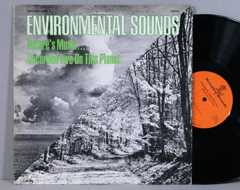 Environmental Sounds - Nature's Music Recorded Live On This Planet - Vintage Vinyl Record Album 1972 Nature Sounds Thunderstorm / Wind