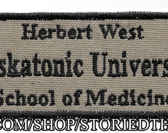 Herbert West, Miskatonic University Patch