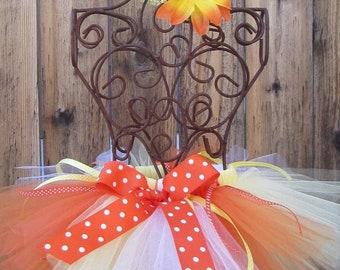 Candy Corn Halloween Fall 4 FUN Tutu Sizes Newborn, 3 m,  6-12m, 12-24m, 2T, 3T, 4T, 5 yr, 6 yr, 7 yr