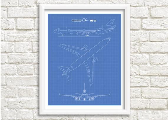 Mcdonnell douglas md 11 blueprint blueprint art md 11 mcdonnell douglas md 11 blueprint blueprint art md 11 instant download mcdonnell douglas printable art aviation decor 8x10 11x14 malvernweather Images