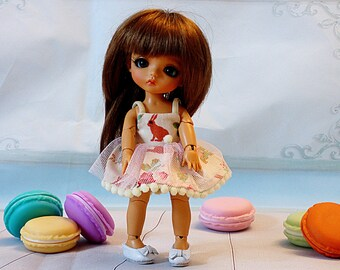 Easter Bunny new Lati Yellow dress Pukifee outfit Irrealdoll dress for bjd dolls format tiny PukiFee/Lati Yellow bjd clothes for dolls