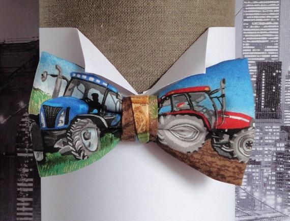 Bow tie, Tractor bow tie, bow ties for men, pre tied bow tie