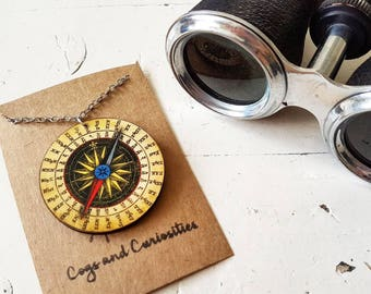 Compass Necklace // Travel Gift // Compass Jewelry // Travel Jewelry // Wanderlust