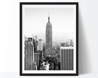 New York City Print, NYC Print, NYC Photo, New York Photo, Black and White Art, New York City Printable, New York Poster, Digital Print