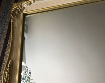 Vintage French Provincial wall mirror French country mirror large ornate mirror shabby ornate mirror Hollywood regency mirror room decor