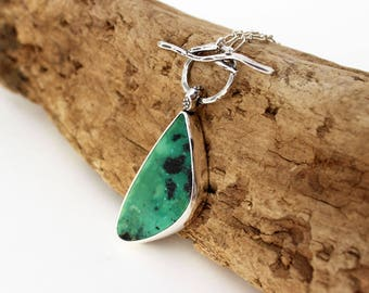 Green turquoise etsy mcginnis turquoise pendant necklace sterling silver turquoise pendant american turquoise green turquoise pendant aloadofball Image collections
