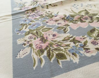 1950's Floral Square Tablecloth