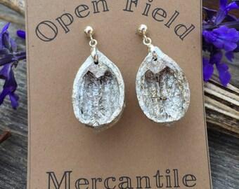 Gilded Pecan Earrings