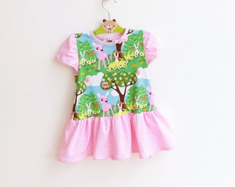BAMBI Girl Baby Dress pattern Pdf sewing, Toddler Dress, knit jersey Dress newborn 3 6 9 12 18 months 1, 2 3 4 5 6 yrs