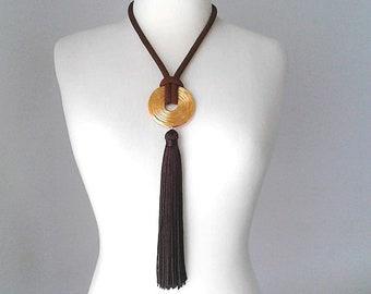 Fringe necklace long tassel necklace boho jewelry tassel necklace tassel necklace long multi tassel unique necklace prom jewelry long tassel