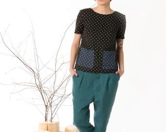 Summer pants, Linen clothing, Casual pants, Women pants, Handmade pants, Long pants, Blue pants, Linen trousers, Trouser pants, Womens linen