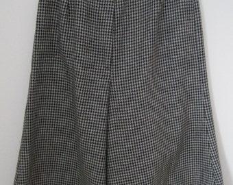 GAUCHOS, Black & White Houndstooth, Wool, Vintage
