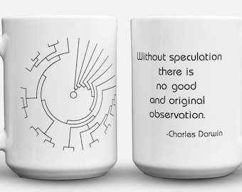Darwin Quote and Phylogenetic Tree mug
