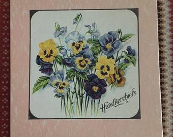 Vintage Linen Hankies - Unused in original box - 40's - Wedding - Something Old -
