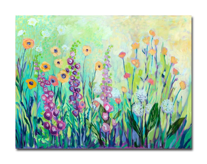 Featured listing image: Limited Edition Print - Floral Garden Abstract Fine Art Reproduction by Jenlo