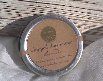 Lavender Whipped Shea Butter - 4oz - Vegan,Body Butter, Handmade with Essential Oils, Fair Trade