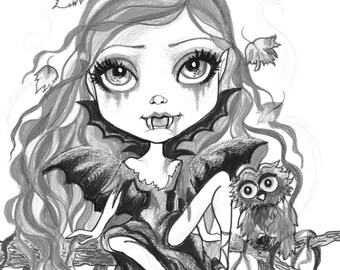 adult coloring page greyscale coloring page printable coloring page digital download halloween fantasy art candy kisses by leslie mehl art