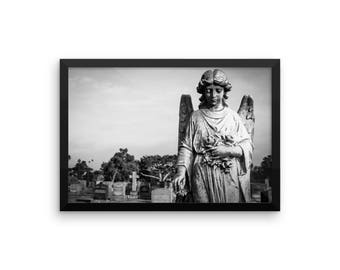 Cemetery Angel Framed Print