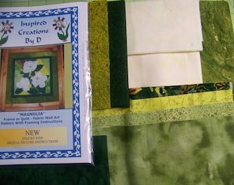 MAGNOLIA  Art Quilt Pattern Kit
