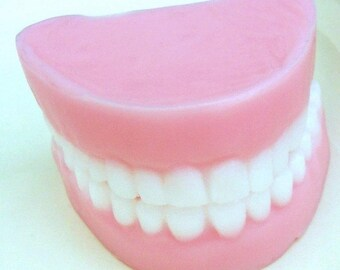 Grandpa's Denture Soap Set in Sweet Peppermint Scent- packaged in a clear cup with hang tag