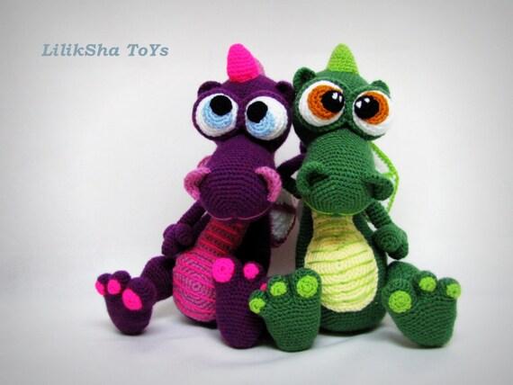 Crochet Amigurumi Dragon : Crochet dragon pdf amigurumi pattern