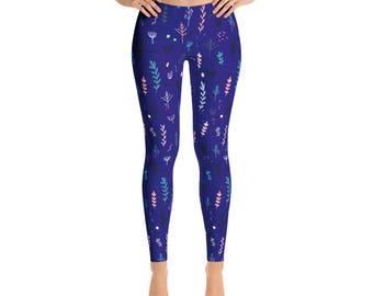 Floral Leggings, boho leggings, women leggings, printed Leggings, Yoga Leggings, floral tights, boho pants, Spring Leggings, Summer Leggings