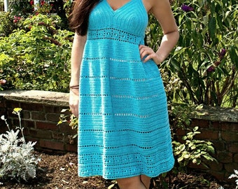 Crochet Pattern for Sundress, Tunic, Calypso Kiss, PDF 15-189 INSTANT DOWNLOAD