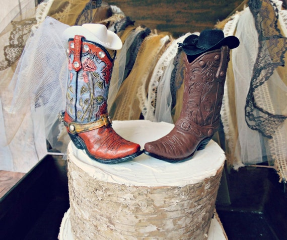 Wedding Cowboy Boots: Custom His And Hers Cowboy Boots Wedding Cake