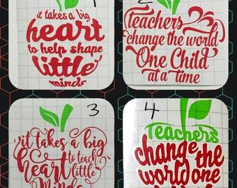 Teacher decals / Teacher Appreciation Week / Car decal / Tumbler decal / Laptop Decal / Teacher Apple Decal