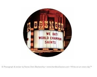 Saints Superbowl Stickers - New Orleans Saints - World Champion Saints Stickers - Stationery Envelope Stickers