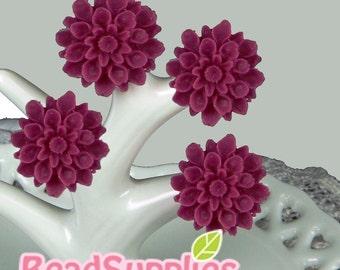 CA-CA-01534 - Purple Pink chrysanthemum ,  6 pcs