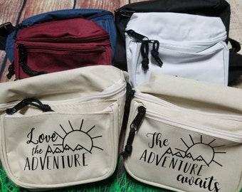 Fanny pack, adventure, hiking, trendy, custom, waist belt bag