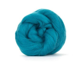 Cerulean (blue/green) Merino Combed Top - 100 grams (3.5 oz) to Spin, Felt, Blend, Create Fiber Art