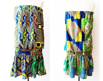 Green Beach African print dress