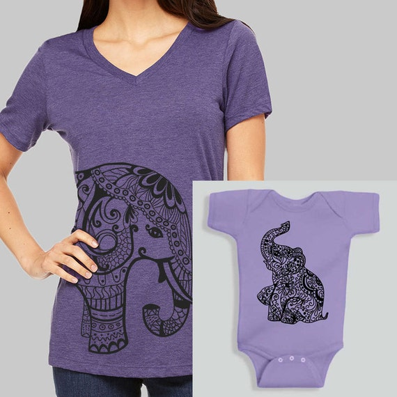 Mommy And Me Outfits Elephant Baby Girl Clothes Elephant Baby