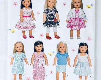 "Simplicity Pattern 1484 18"" Doll Clothes - Great for American Girl Dolls!"