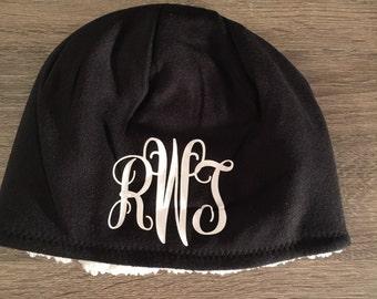 Monogrammed Hat/ Winter Hat/ Monogrammed Fleece Hat/ Monogrammed Beanie