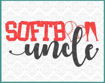 CLN0372 Softball Uncle Aunt Family Brother Love Family SVG DXF Ai Eps PNG Vector Instant Download COmmercial Cut File Cricut SIlhouette