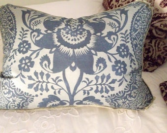 1 Blue Batik Throw Pillow