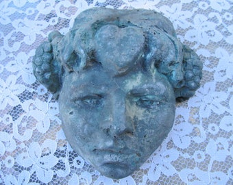Antique Vintage Weathered Face Wall  Hanging-Garden Patio
