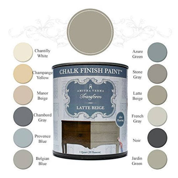 Chalk Finish Paint for Refinishing Furniture - Kitchen & Bathroom Cabinet Makeovers - Water Based Paint for Easy French Country Styles