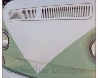 4 x 4 photo card-Diamond VW bus