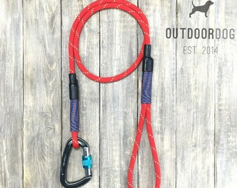 5ft-Red climbing rope dog leash