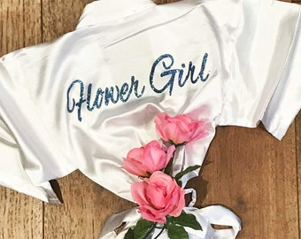 Personalized gifts by simplynameit on etsy silk flower girl robe flower girl robe satin flower girl robe flower girl negle Choice Image