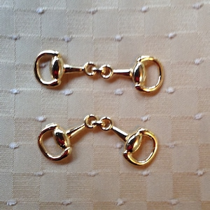 2 Gold or Silver Tone Extra Small Snaffle Bits