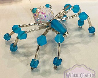 Frosted Blue Disco Spider
