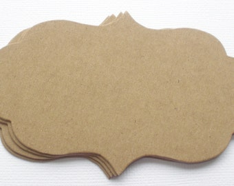 BRACKET LABELS  - Bare CHiPBOARD Notes, Die Cuts,