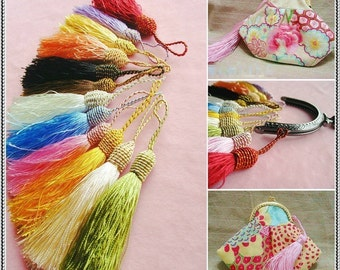 8pieces-Rainbow color Fringe/Macrame/spike/Tassel for purse making(purse bag metal frame)